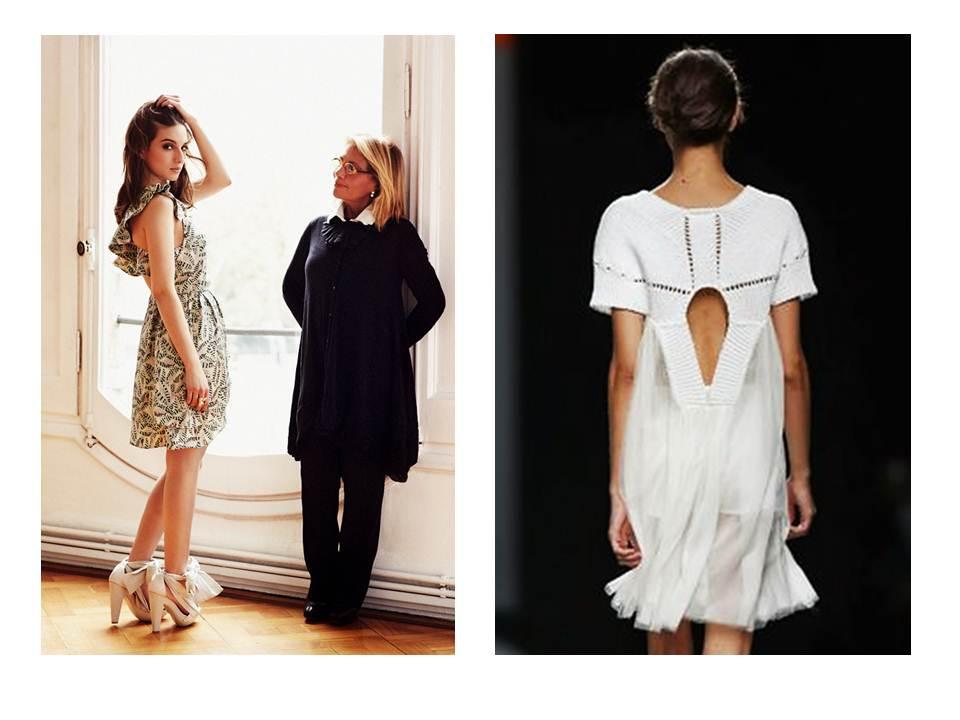 la diseñadora catalana junto a María Valverde para VOGUE, (fotografía de Quentin de Briey para Vogue)